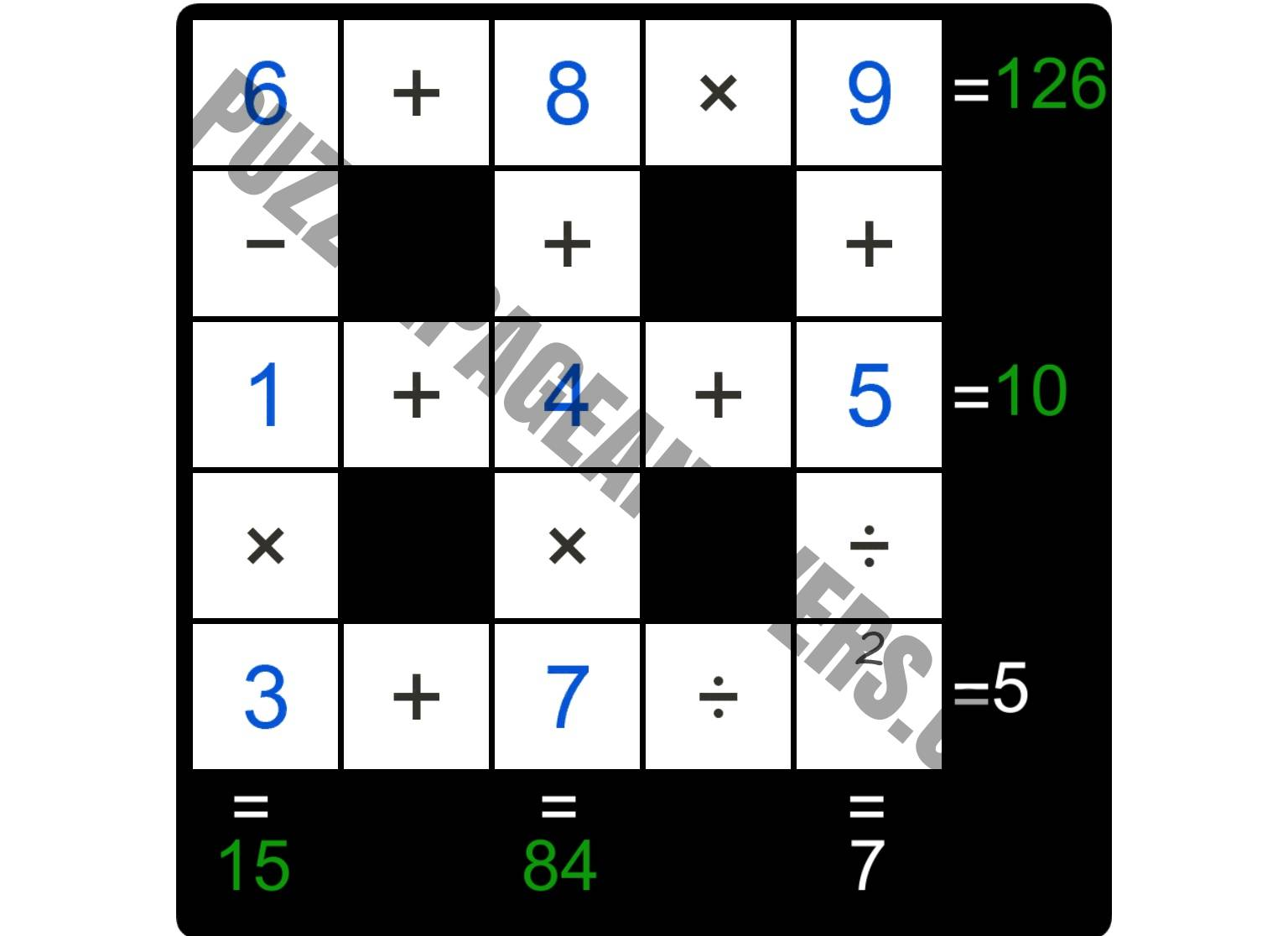 Puzzle Page Cross Sum October 12 2018 Answers