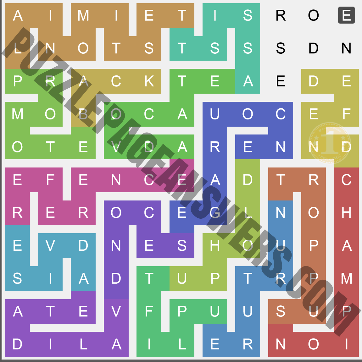 Puzzle Page Words Snake June 6 2020 Answers ...