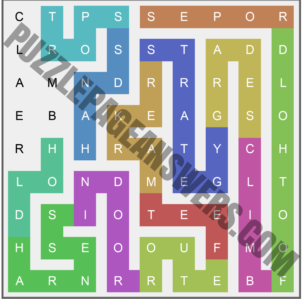 Puzzle Page Words Snake June 3 2020 Answers ...