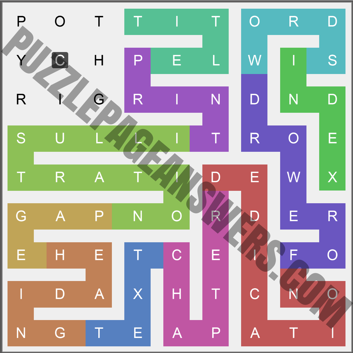 Puzzle Page Words Snake November 4 2020 Answers ...
